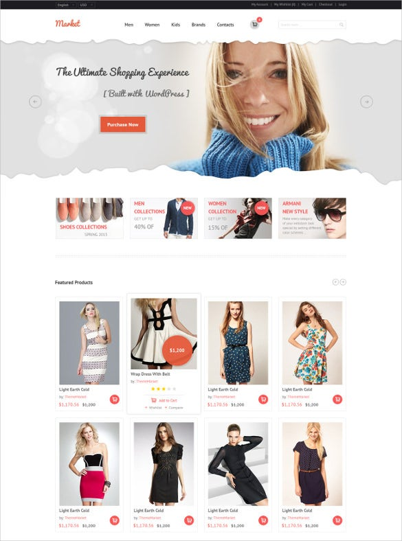 retail ecommerce shopping psd template