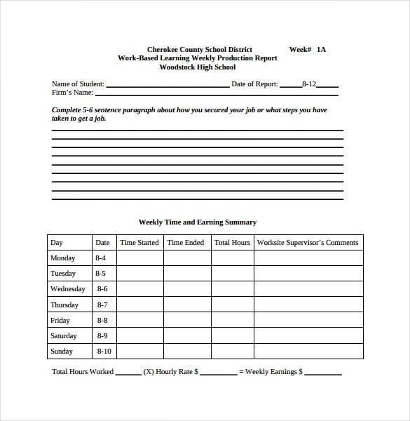 Production Report Template   Free Word Pdf Documents Download
