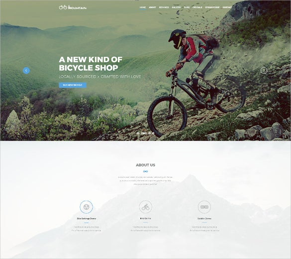 extreme retail sport club psd template