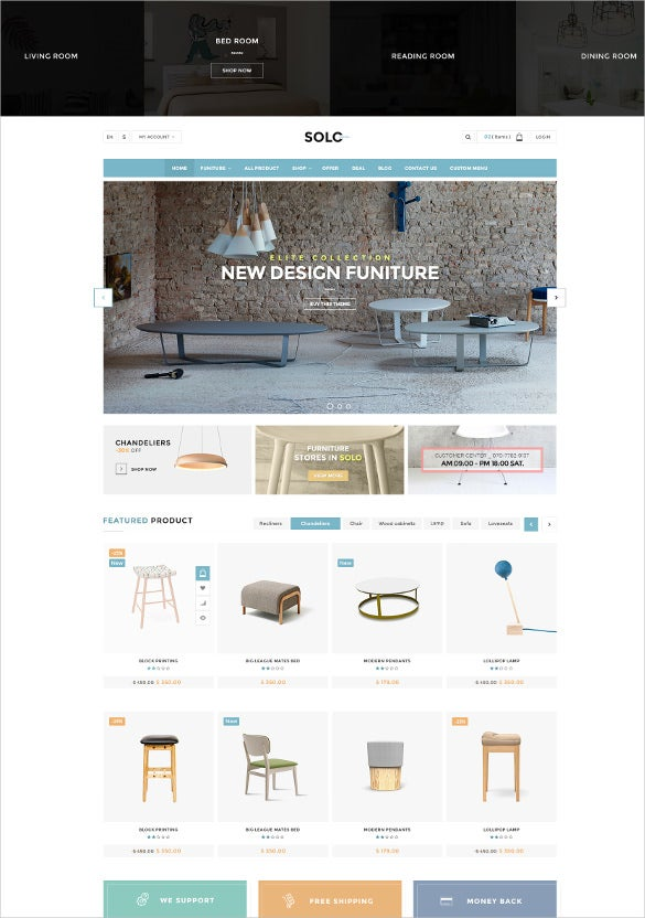 retail multi purpose ecommerce psd template