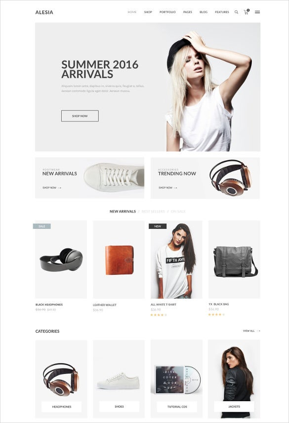 latest retail ecommerce psd template