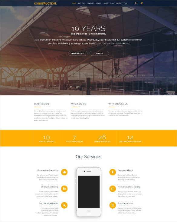 34+ Construction Website Themes & Templates | Free & Premium Templates