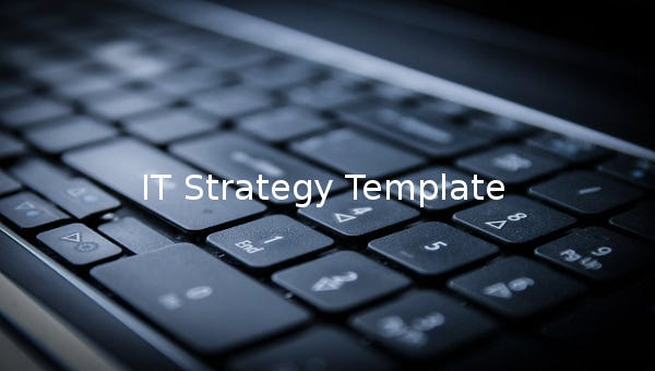 it strategy template 1