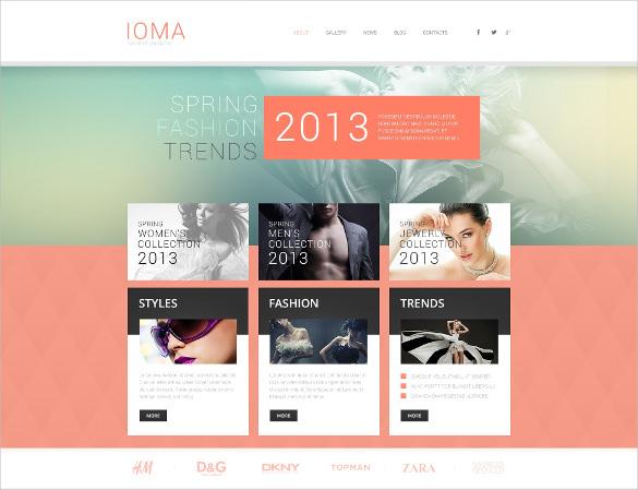modern retail fashion wordpress theme