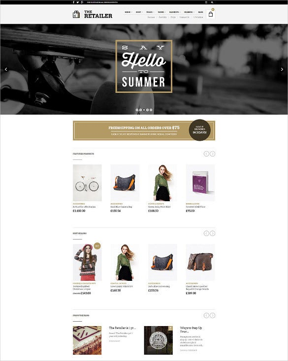 retail responsive wordpress theme
