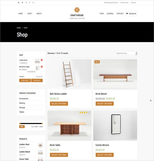 retail woocommerce furniture wordpress theme
