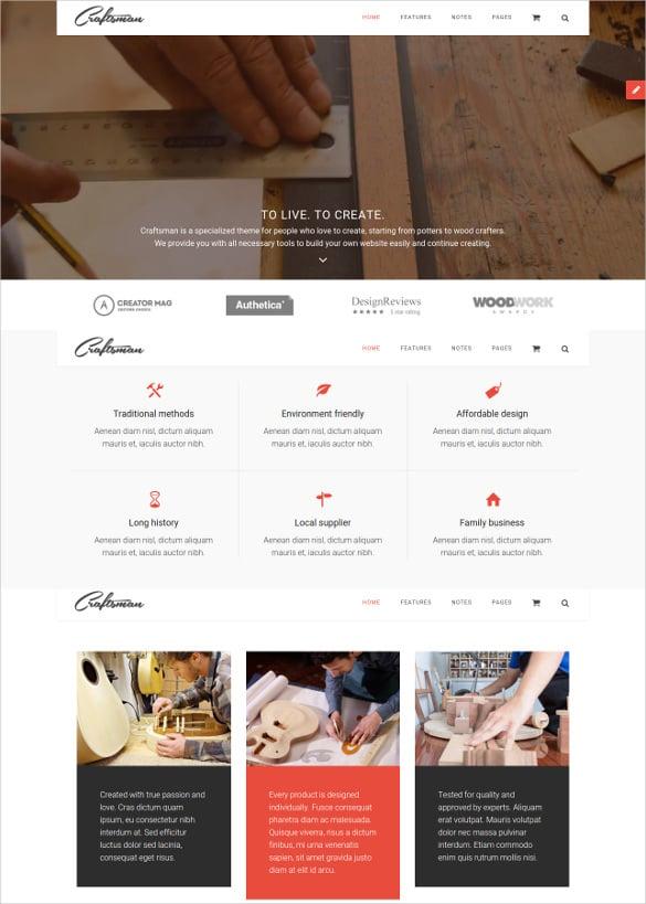 retail wordpress craftsmanship theme