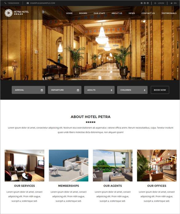 retail hotel resort wordpress theme