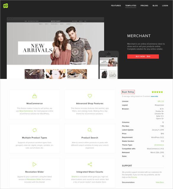 retail ecommerce wordpress template