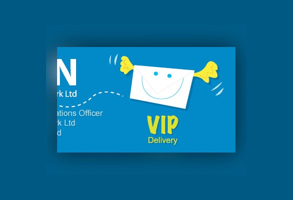 vip mail label of format