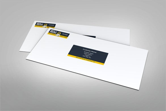 example mailing label template in white background