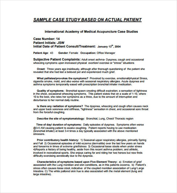 12 case study templates pdf doc free premium templates for Case report form template clinical trials