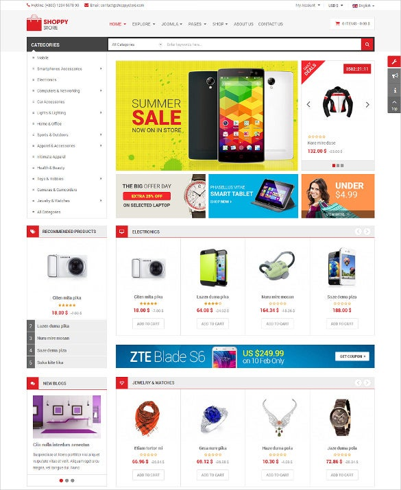 retail shope store virtuemart 3 joomla template