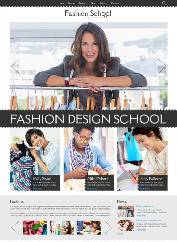 retail fashion designer joomla template