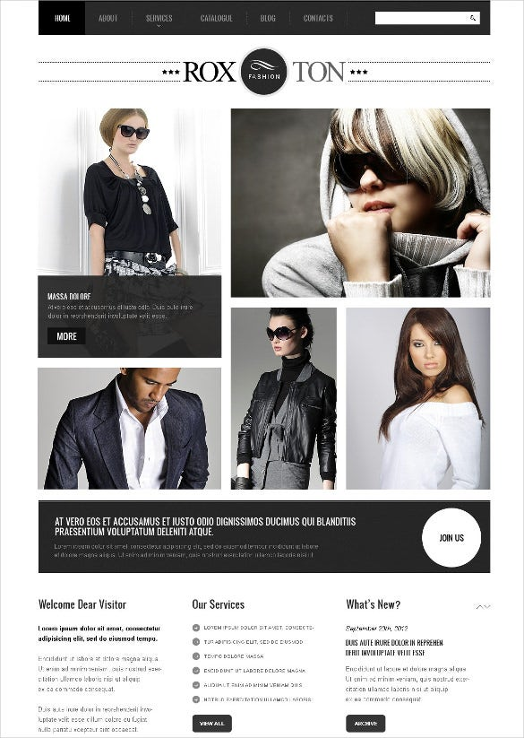 retail apparel joomla template