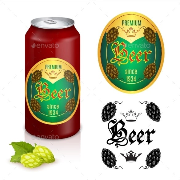 premium beer label design sample