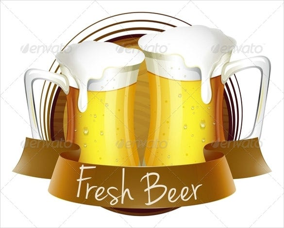 fresh beer label of sample format