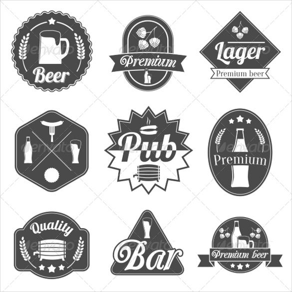 alcohol beer label badges collection of example