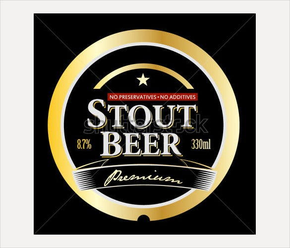 sample vector stout beer label
