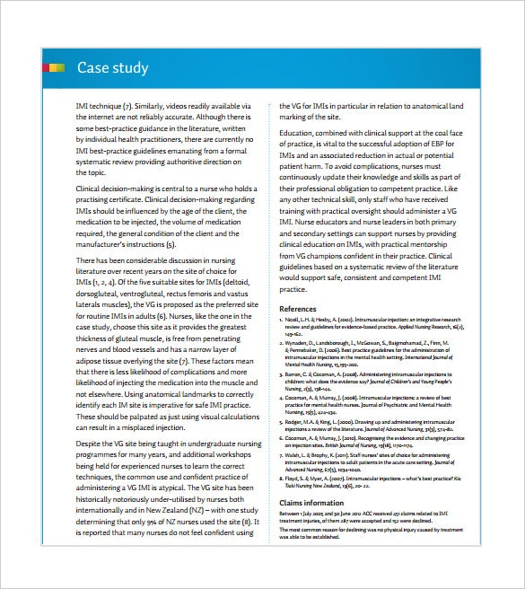 treatment injury case study pdf template free download