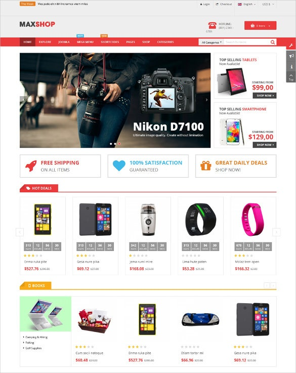 multipurpose retail ecommerce joomla template