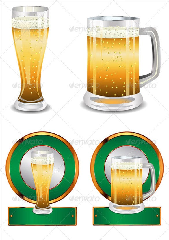 label with beer glass sample format