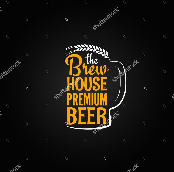 format beer bottle label glass house design menu background