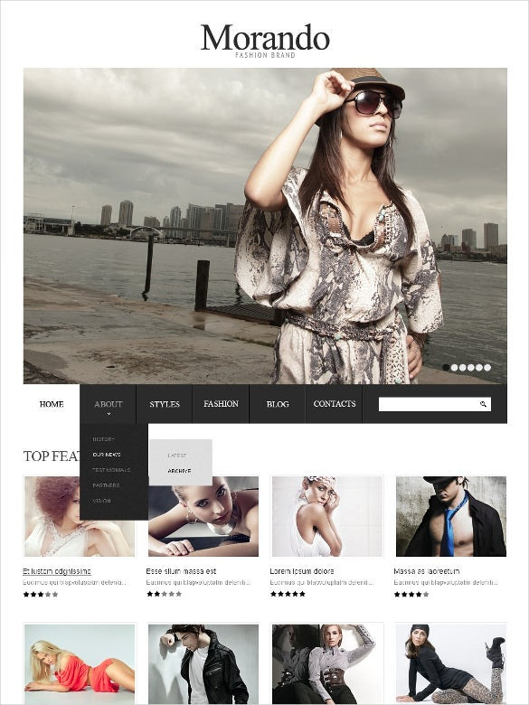 retail fashion brand online joomla template