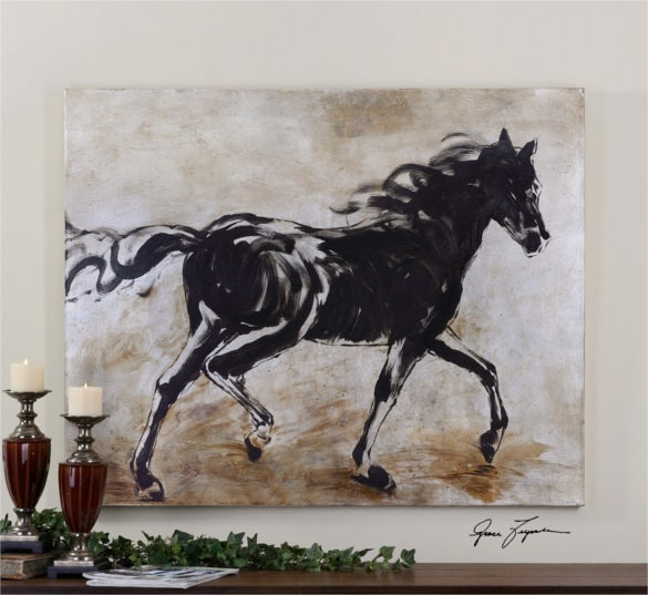 black beauty hand painting art