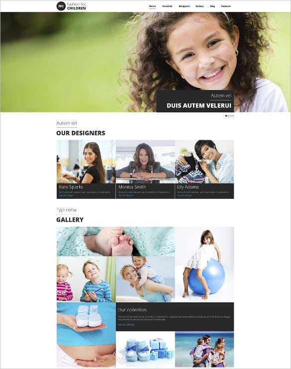 retail baby store responsive drupal template