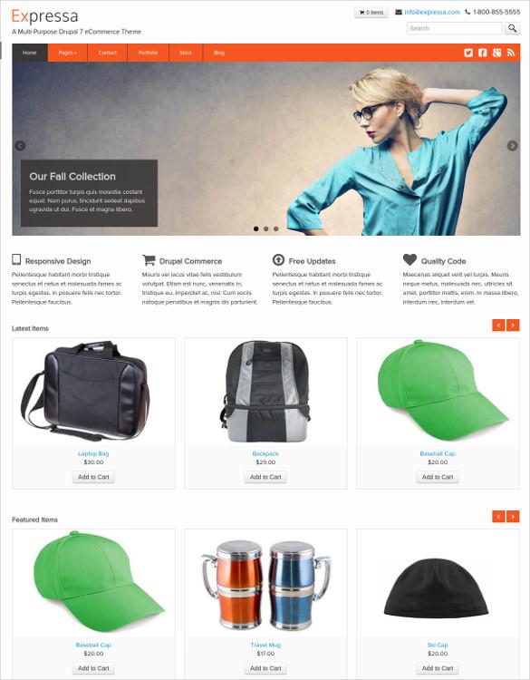 responsive retail drupal commerce theme