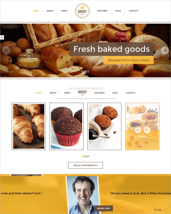 retail bakery drupal theme
