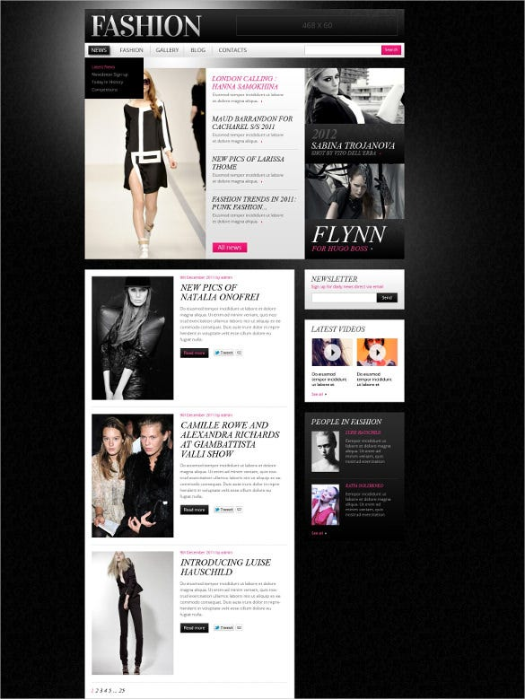 trendy retail apparel drupal template