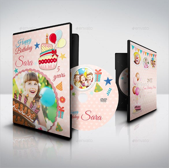 Birthday Party Dvd Cover And Label Template Sample