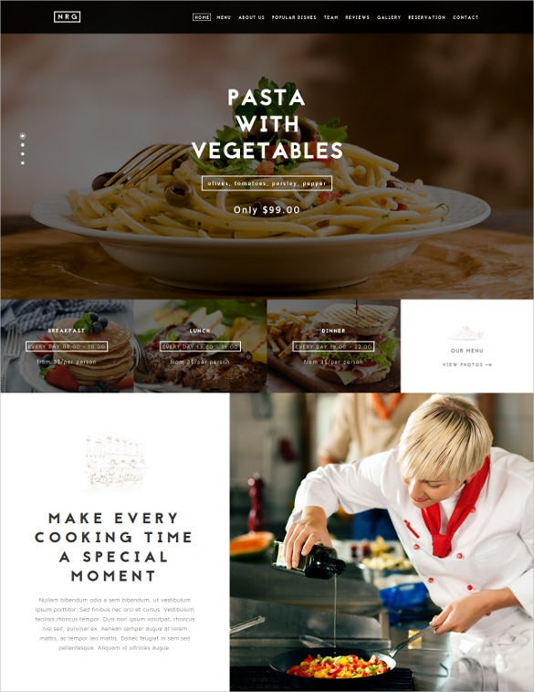 retail restaurant catering drupal theme