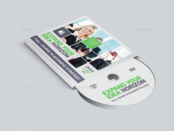 corporate format dvd cover and label template