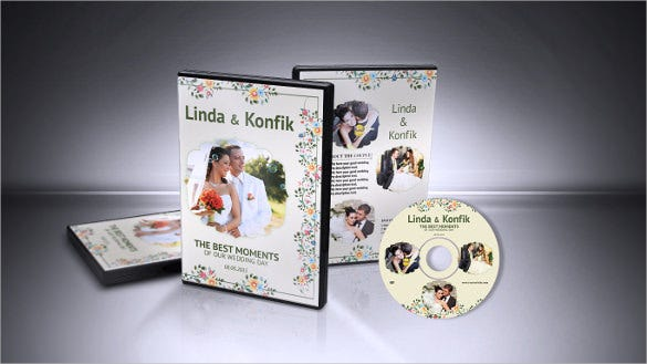wedding dvd cover cd label of format template