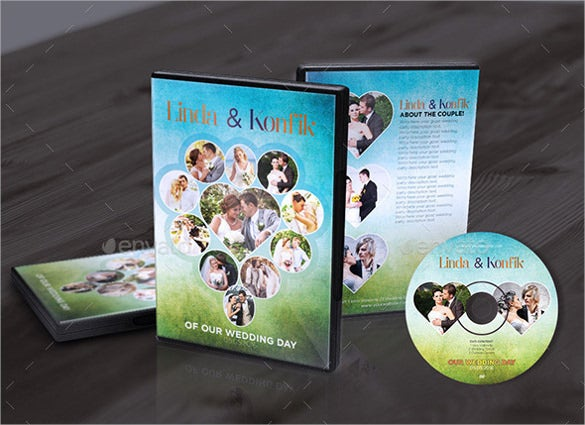 wedding dvd cover label format