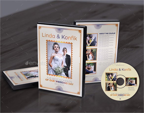 wedding dvd cover label format download
