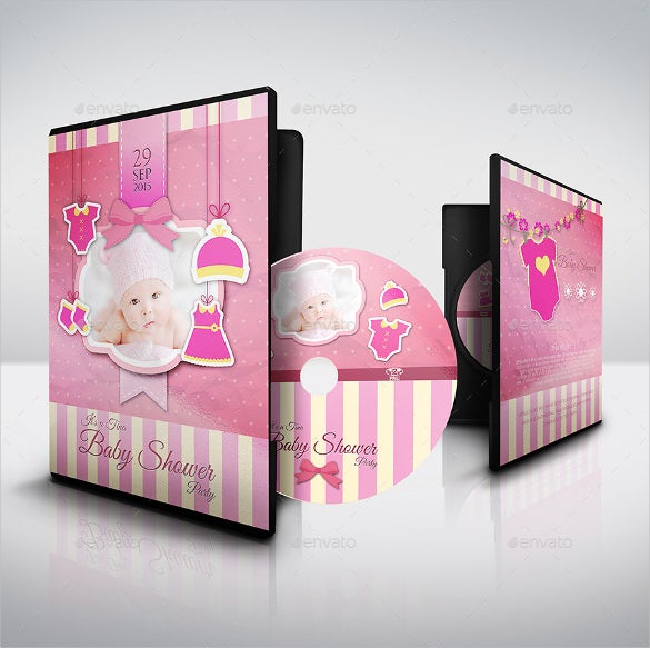 baby shower party dvd template example download