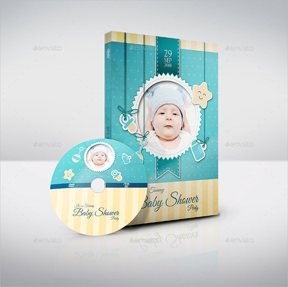 baby shower party dvd template format template