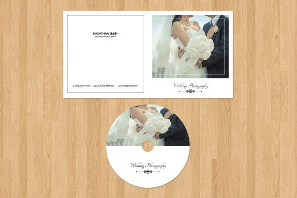 photographer dvd label cover format