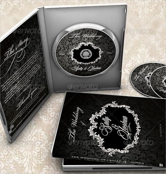 classy black wedding dvd label download