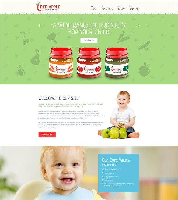 retail red apple website template1