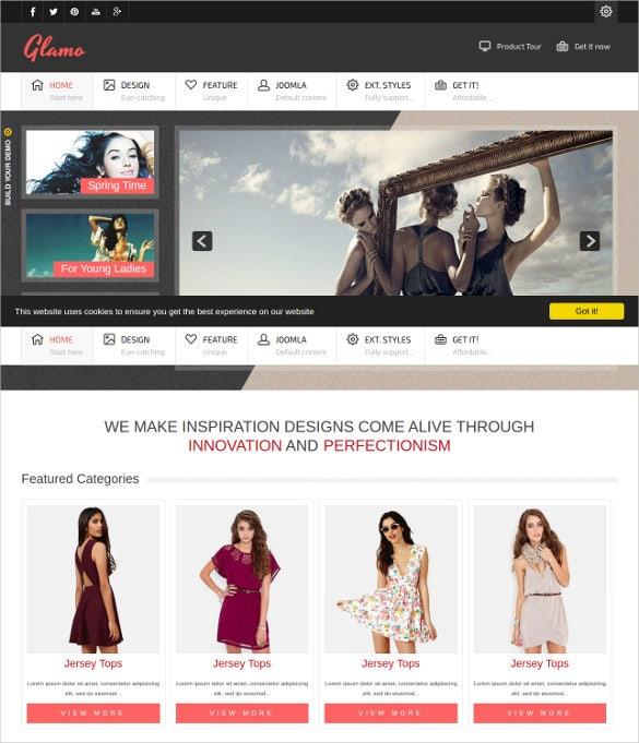 retail fashion website template