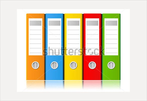 sample file folder label template vector illustration