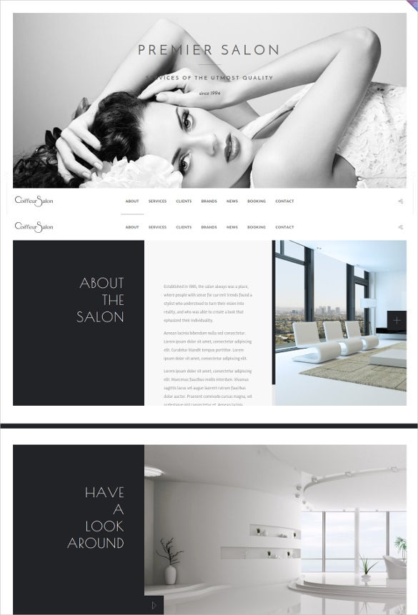 classy and elegant retail website template 2