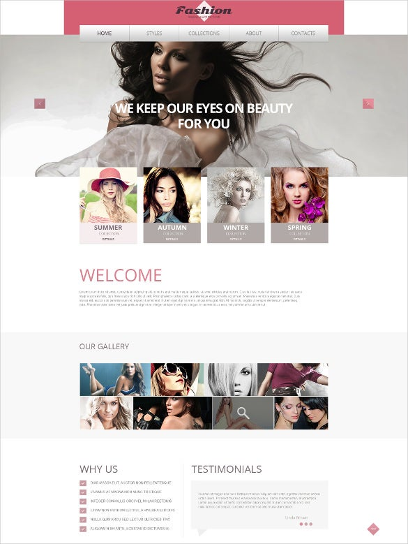retail apparel responsive website template