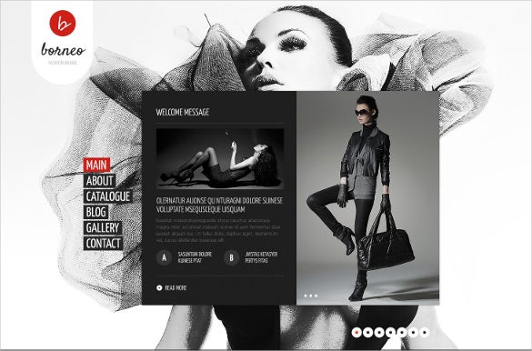 premium retail apparel website template