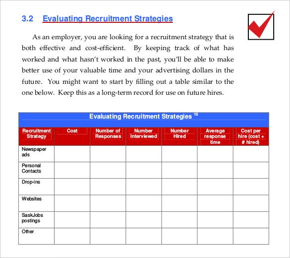 Recruitment Strategy Template   Free Word Pdf Documents